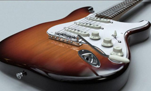 Lightwave Tutorial Lighting and Texturing - Stratocaster Volume 2 - Texturing and Lighting