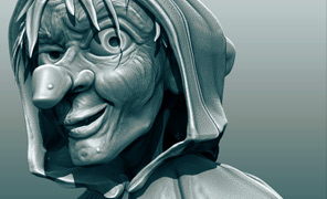 Lightwave Tutorial Modeling and Projects - ZBrush 4R4 Dynamesh Character Busts